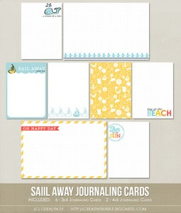 Image of *NEW* Sail Away Journaling Cards (Digital)