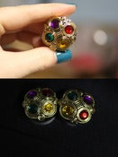 "Image of 1"" Golden Colorful Gem Plugs!"