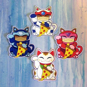 Image of Beckoning Pizza Cat Stickers