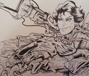 "Image of RIPLEY'S ""BITCH BUSTER"" original inked drawing"