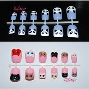 Image of Animal faces fake nail art set