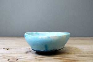 Image of mini turquoise blue monk bowl