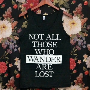 Image of Tri-Blend 'Those Who Wander' Tank Top