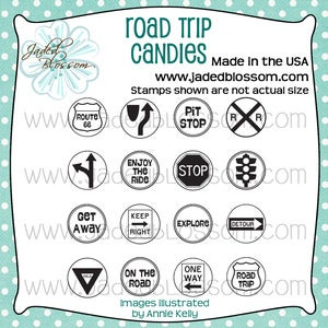Image of Road Trip Candies (4x4) ~ Peachy