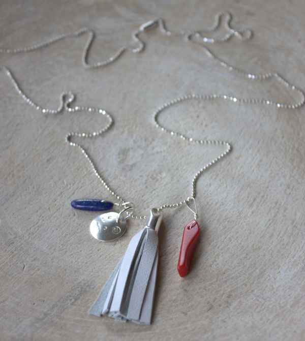 Image of Splendid Nautical/4th of July Tassel Necklace
