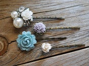 Image of Lilac Rose Bobby Pin Set