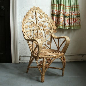 Image of Vintage Child's Curly-Wurly Wicker Chair