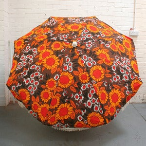 Image of Vintage Garden Sunflower Parasol - SOLD