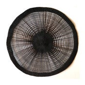 Image of Round Placemats - Black, Red, Natural