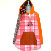 Image of Pink and Orange Blanket Poncho