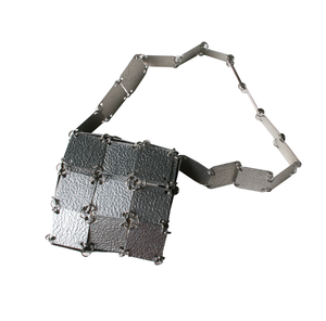 Image of Small metal handbag