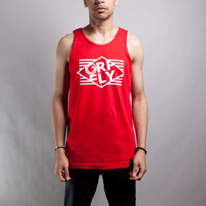Image of Stripes Tank red