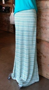 Image of Slit Striped Maxi Skirt