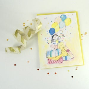 Image of Confetti Birthday Girl Greeting Card