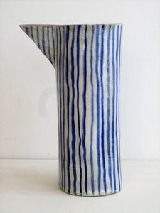 Image of blue and white stoneware beaker