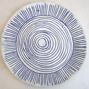 Image of blue and white porcelain plate