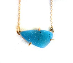 Image of Teal Drusy in 14k Gold Fill Prongs