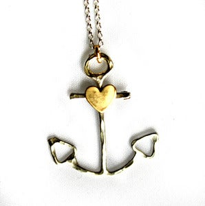 Image of Silver Anchor with Heart