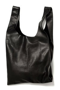 Image of BAGGU Meadium Leather Bag