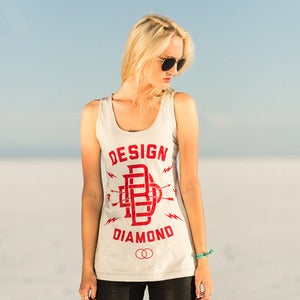 "Image of ""DbD monogram"" Womens Unisex tank"