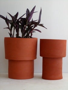 Image of two terracotta flower pots