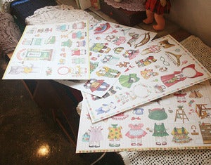 Image of Uncle cat paper dolls 4 set