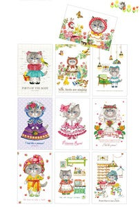 Image of Uncle cat postcard 10 set