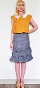 Image of Ruffled Dotted Skirt