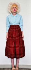 Image of Red & Black Checked Skirt