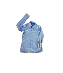 "Image of INES AMORIM blue ""cape"" shirt"