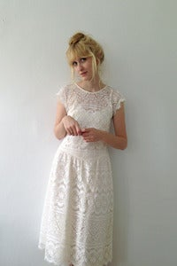 Image of White Lace Dress