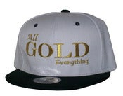 Image of All Gold Everything White/Black Snapback Hat