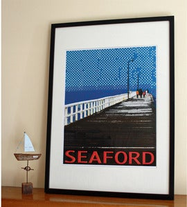 Image of Travel Poster: Seaford Pier