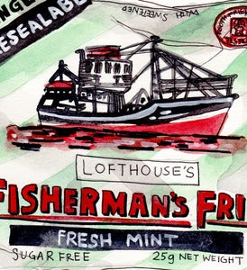 Image of Fishermans Friend Original Painting