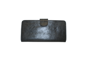 Image of Plain Flat Thin Slim Button Clutch Wallet