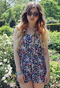 Image of Ditsy Floral Print Playsuit