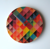 Image of Grid 2 Wall Clock