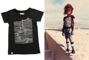Image of MINI & MAXIMUS waves tee, black