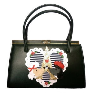 Image of Vintage Customised Parisian Poodle Handbag
