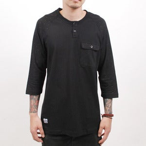 Image of Locke Raglan Henley (Black)
