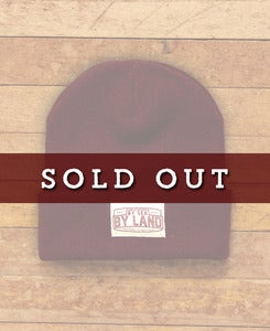 Image of BLOCK BEANIE - BURGUNDY