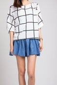 Image of Be Square Grid Blouse