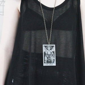 Image of THE DEVIL Tarot Card Pendant