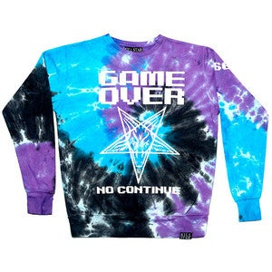 Image of Game Over Tie Dye Sweatshirt