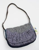 Image of large tough ruffles shoulder bag in blue-greys