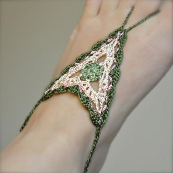 Crochet Pattern Barefoot Sandals My Place On Earth
