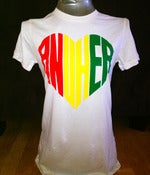 Image of Red Yellow Green Anuhea Heart T-shirt (Women's) - WHITE
