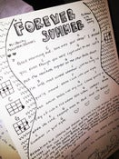 "Image of Handwritten ""Forever Summer"" lyrics with 'Ukulele Chords"