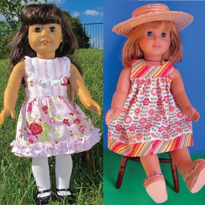 Image of Doll Pattern Bundle - 2 Dress Pattern Pack - Fair & Square and Perfect Party Dress