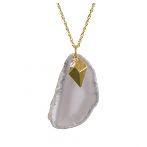 Image of Gray Natural Stone Necklace